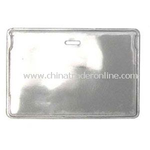 Horizontal Clear Vinyl Badge Holders w/ Slot - No Attachment from China