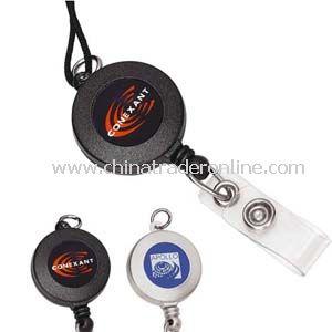 Metallic Retractable Badge Holder