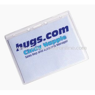 Plastic Name Badge Holder with Hang Holes