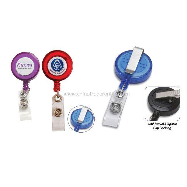 Rectractable Badge Reel w/Metal Slip Clip