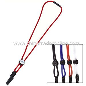 Slide-Adjust Lanyard With Vinyl Imprint from China