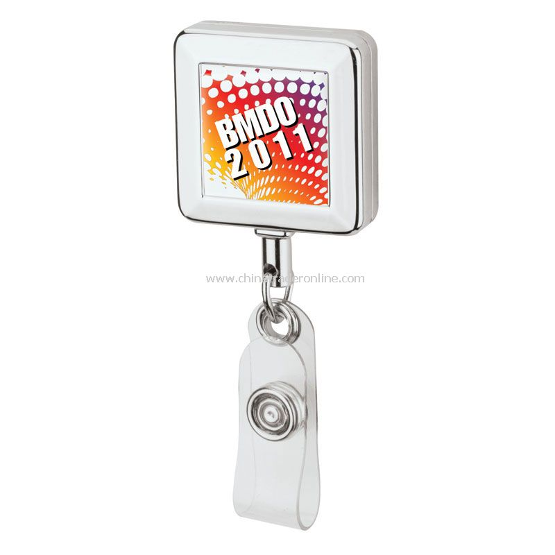 Square Metal Badge Holder from China