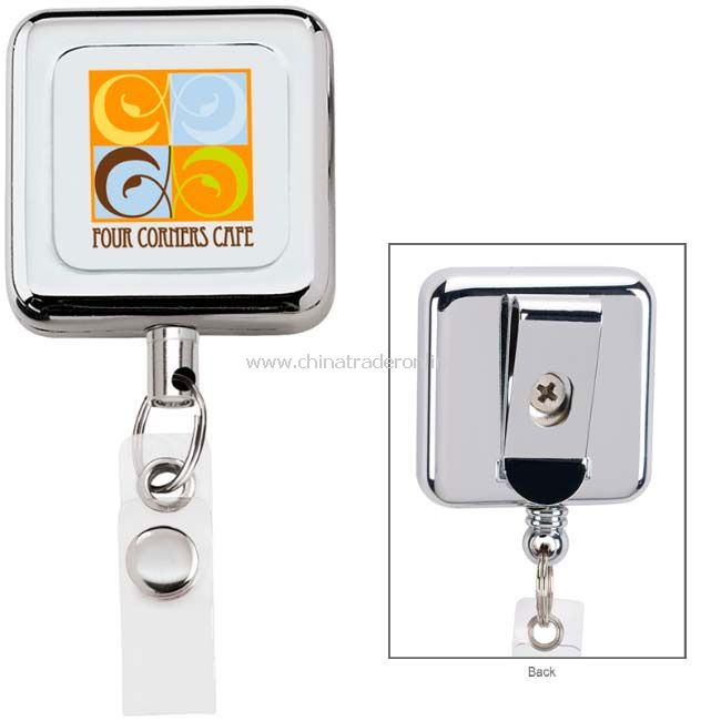 Square Metal Retract Badge Holder from China