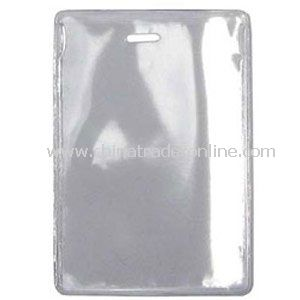 Vertical Clear Vinyl Badge Holders w/ Slot - No Attachment