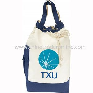 DRAWSTRING CANVAS TOTE BAG