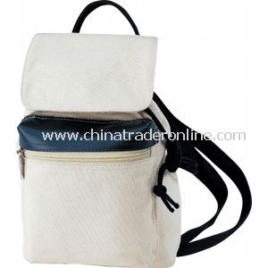 DRAWSTRING MINI CANVAS BACKPACK