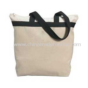 Large Zipper Tote - Heavyweight Natural Canvas
