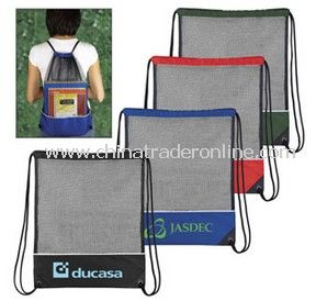Mesh Pullstring Backpack from China