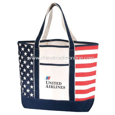 Patriotic Canvas Tote