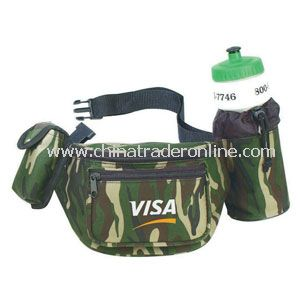 POLY FANNY PACK W/BOTTLE HOLDER & CELLULAR PHONE POUCH