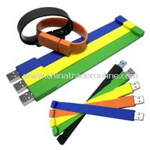 Promotional Silicone bracelet with a USB flash drive inside it, 256MB.