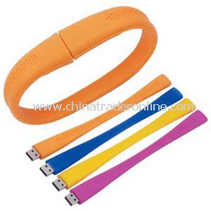Promotional Silicone bracelet with a USB flash drive inside it, 2GB.