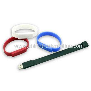 Promotional Silicone bracelet with a USB flash drive inside it, 512MB.