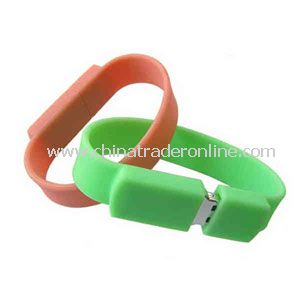 Promotional Silicone Bracelet with USB Flash Drive Inside, 4GB.