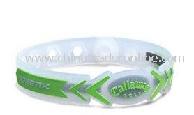 Promotional Silicone Bracelets Clear with Green