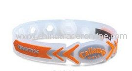 Promotional Silicone Bracelets Clear with Orange