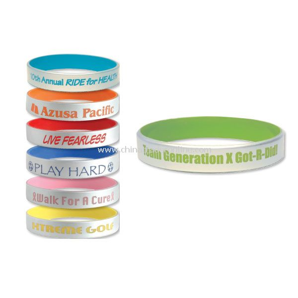 Promotional Silicone Bracelets Silver from China