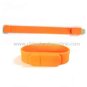 Promotional USB Silicone bracelet flash drive, 2GB.