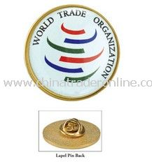 1 Inch diameter Round Lapel Pin