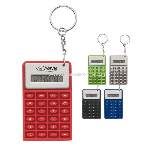Promotional Super Mini Flexi Calculator Key Chain