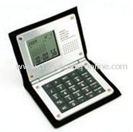 Promotional World Time Clock Calculator In Folding Soft Vinyl Case