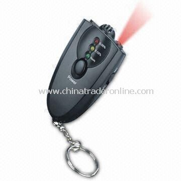 3-LED Keychain Digital Alcohol Tester Breathalyzer with Torch and Quick Response/Resume