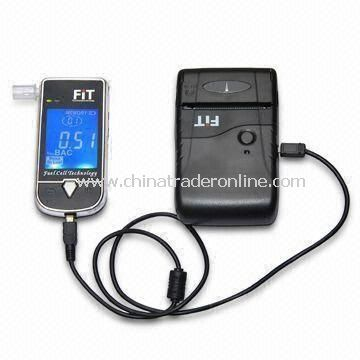 Alcohol Tester with Thermal Printer, 2.2-inch LCD Display and Fuel Cell Sensor