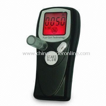 Breath Alcohol Tester with EU Fuel Cell Sensor, Digital Display with 2 Decimal Points
