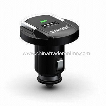 Car Charger for iPad/iPhone 4/iPod, with Amber/Green Status Light and Detachable Dock Connector from China