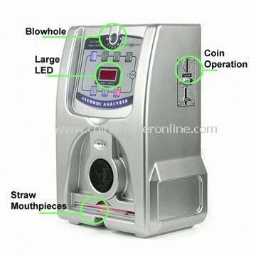 Coin Operated Breath Alcohol Tester with Three-digit LED Display