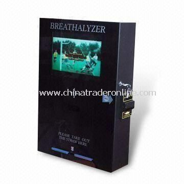 Coin-operated Breath Alcohol Tester with Voltage Rangign from 100 to 240V AC