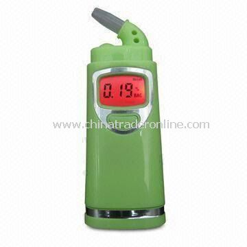 Digital Breath Alcohol Tester with Auto Power-off Function and Red Backlight Display