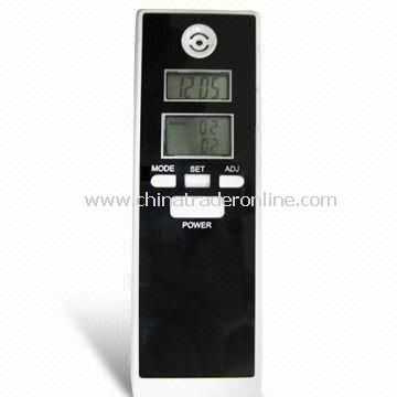 Dual LCD Display Alcohol Tester Breathalyzer/Alcohol Detector with Clock and Alarm