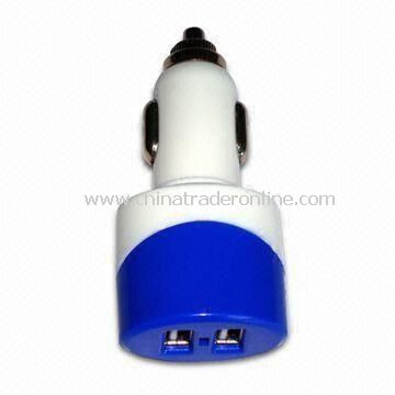 In-car Chargers for Apples iPhone/iPad/iPod, with 5V, 2A USB Output and 10 to 24V Input Voltage
