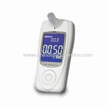 Professional Breath Alcohol Tester with 2.2-inch Graphic LCD and EU Fuel Cell Sensor, CE-/MC-marked