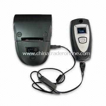 Professional Breath Alcohol Tester with Fuel Cell Sensor, Work with Portable Dot-matrix Printer