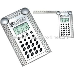 Promotional Calculator with Folding Ruler