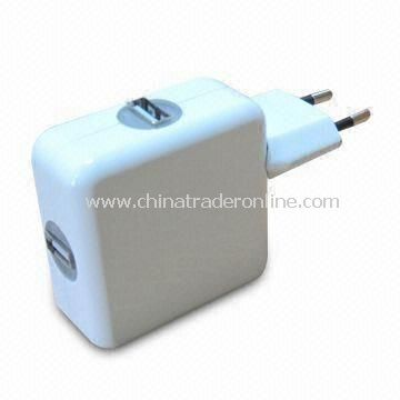 2 USB Travel Charger with Folding Plug, Compitable with Apples iPad, iPhone3G, iPhone3GS, iPhone4G