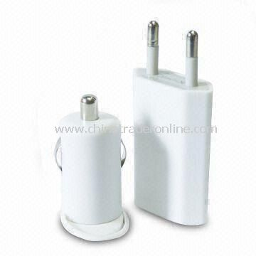 Car Charger and Power Adapter with USB Cable for Apple Products