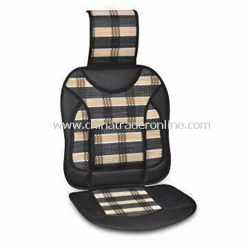 Car Seat Cushion with Embroidered Logo and Elegant Style, Made of Bamboo
