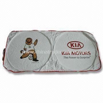 Car Sun Shade with 4C Logo Printing, Made of Tyvek Polyester