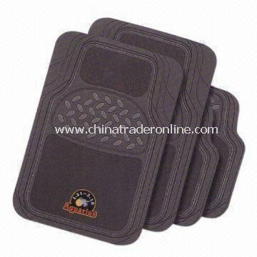 4-piece Car Mats, Available in Various Colors, with Carpet
