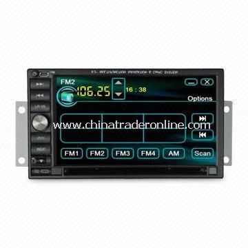 6.2-inc Universal Car DVD Player with Built-in Bluetooth with A2DP and FM Radio