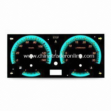 Auto Meter Dial, Made of PC, Available with 0.38 to 1.5mm Thickness