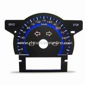 Auto Meter Dial with 0.38 to 1.5mm Thickness, Made of PC, Available in 3-D Design
