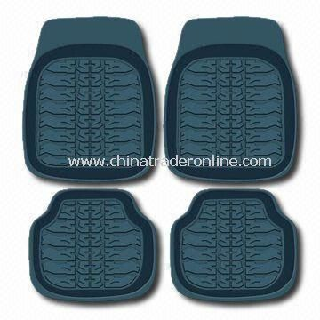 Black Car Mat with Universal Design that Fits All Car Models, Made of Rubber from China