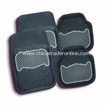 Car Mat, Made of Rubber, Accepts OEM Orders