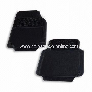 Car Mat, Made of Rubber, Comes in Black Color