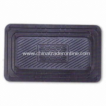 Car Mats with 5th PC for Center Hump, Measures 60 x 35cm