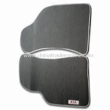 Carpet Car Mats with Rubber Crumb Backing, Available in Black, Beige and Gray